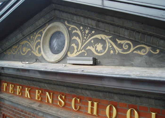 gedecoreerde tympaan, Waalwijk