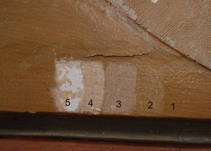 kleurtrap, het aantonen van diverse (verf)lagen