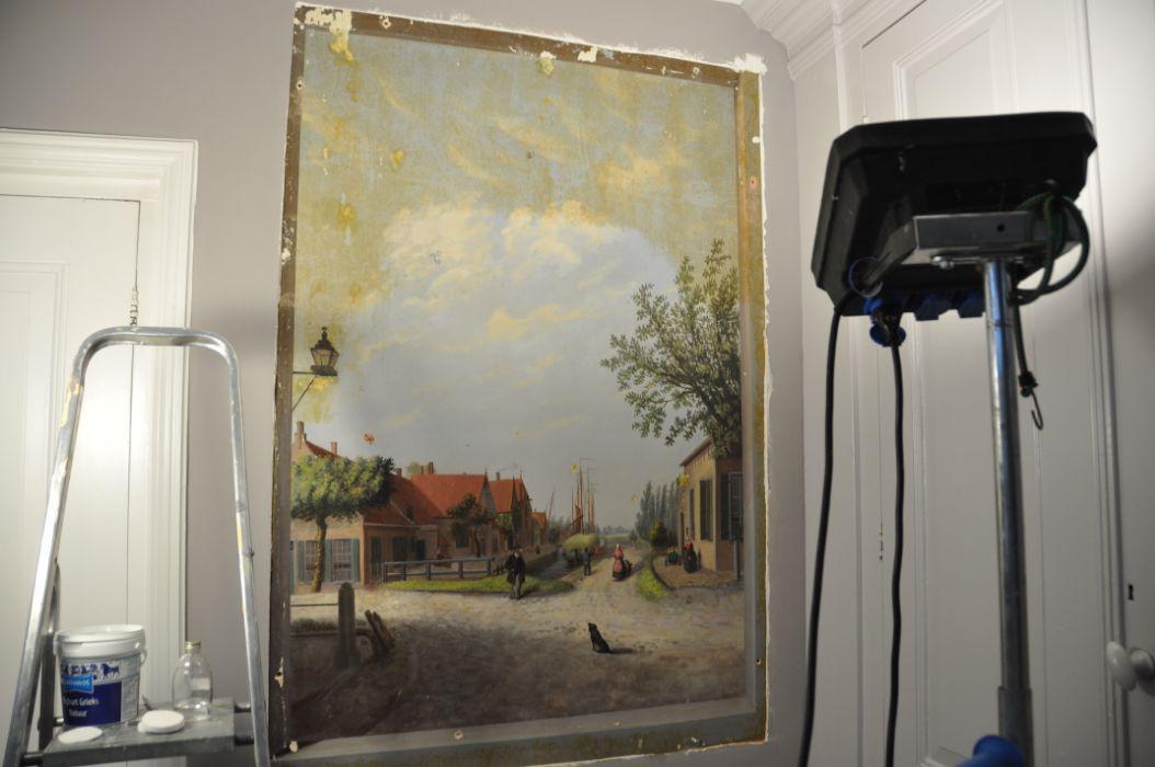 Muurschildering Waspik 3